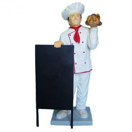 Kucharz z pieczeniom 137 cm - figura reklamowa