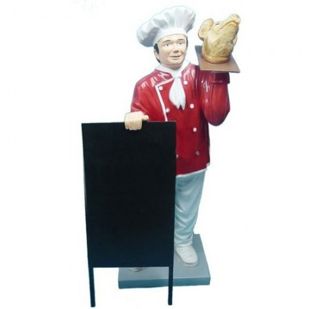 Kucharz ze świńską głową 140 cm - figura reklamowa