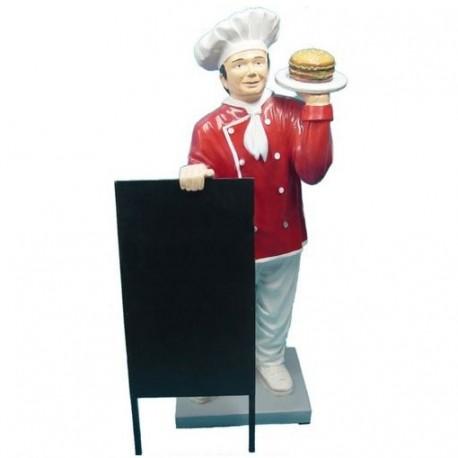 Kucharz z hamburgerem 137 cm - figura reklamowa