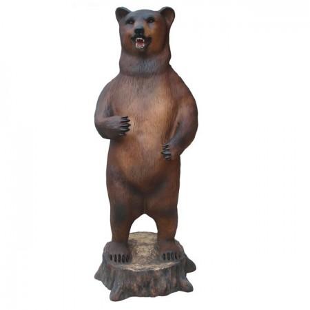 Niedźwiedź , grizzly z rybą 165 cm - figura reklamowa