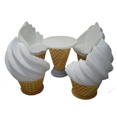 komplet foteli lodowych ze stolikiem