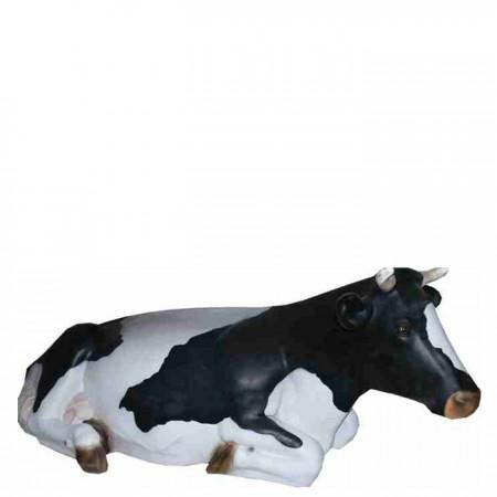 Krowa leżąca 80 cm - figura reklamowa