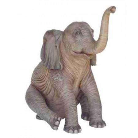 Słoń siedzący 160 cm - figura dekoracyjna