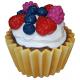 reklama ciasteczko babeczka z śmietaną i owocami