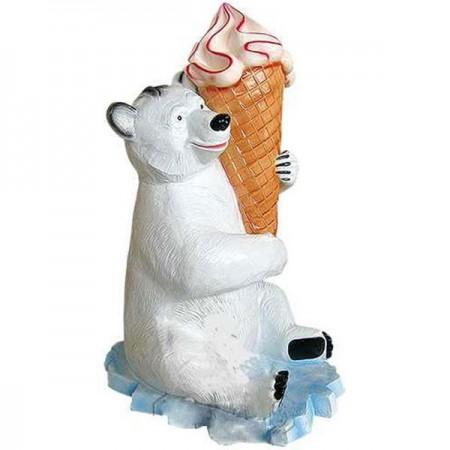 Miś z lodem 140 cm - figura dekoracyjna