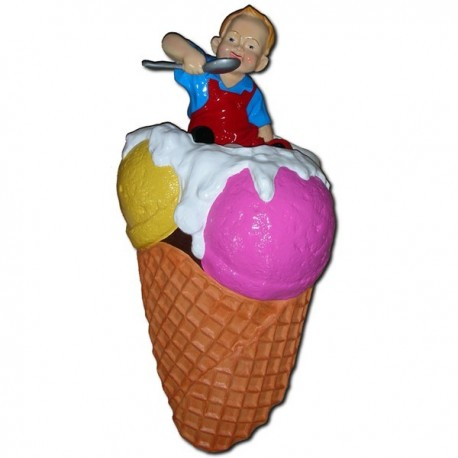 Lód z dzieckiem 130 cm - figura reklamowa