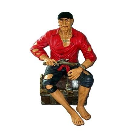 Pirat siedzący 135 cm - figura reklamowa