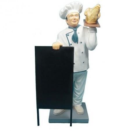 Kucharz z prosiakiem 137 cm - figura reklamowa