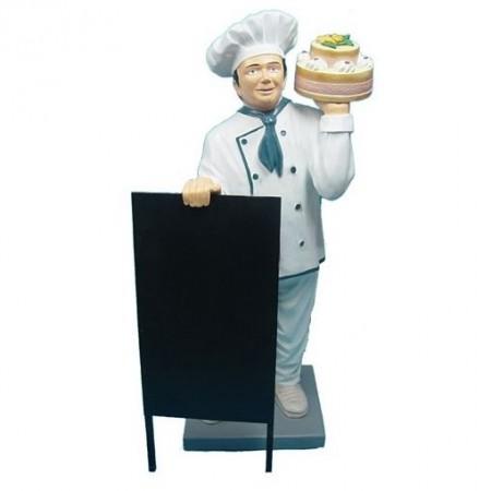 Kucharz z tortem 140 cm - figura reklamowa