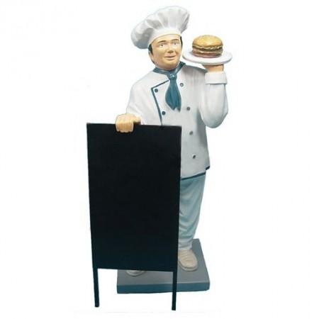 Kucharz z hamburgerem 140 cm - figura reklamowa