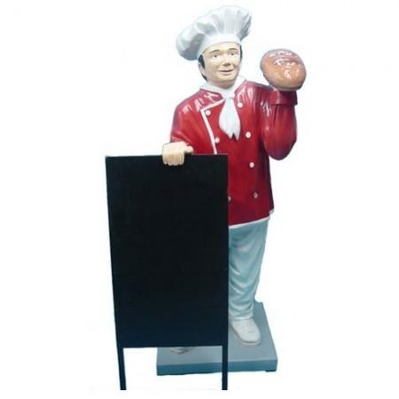 Kucharz z pieczywem 137 cm - figura reklamowa