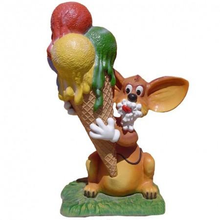 Myszka z lodem 180 cm - figura reklamowa