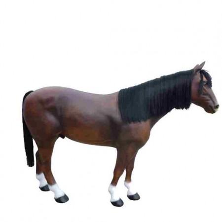Koń z grzywą 190 cm - figura dekoracyjna